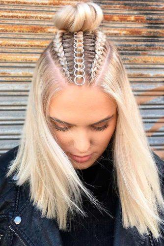 Braided Buns #hairrings #hairaccessories #braids
