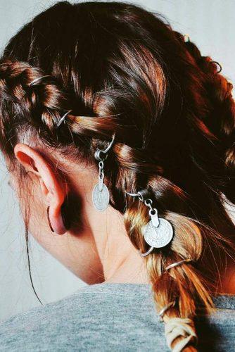Rings Into Dutch Braids #hairrings #hairaccessories #braids