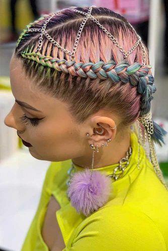 Rings Into Dutch Braids Ponytails #hairrings #hairaccessories #braids