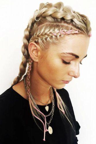 Braided Faux Hawk Styles Dutch #hairrings #hairaccessories #braids