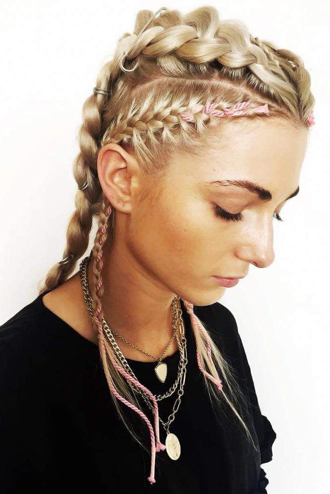 Braided Faux Hawk Styles Dutch #hairrings #hairaccessories #braids