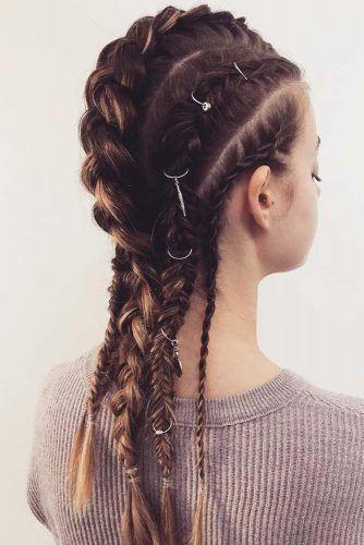 Braided Faux Hawk Styles Twist #hairrings #hairaccessories #braids