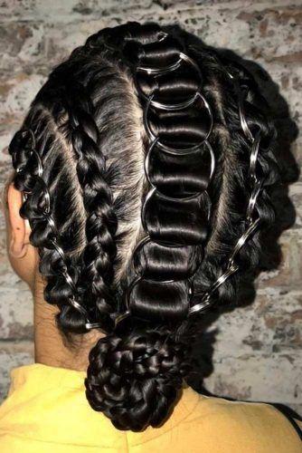 Braided Faux Hawk Styles Updo #hairrings #hairaccessories #braids