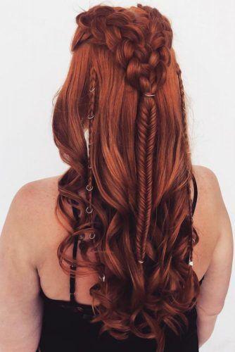 Half-Up Double Braids #hairrings #hairaccessories #braids