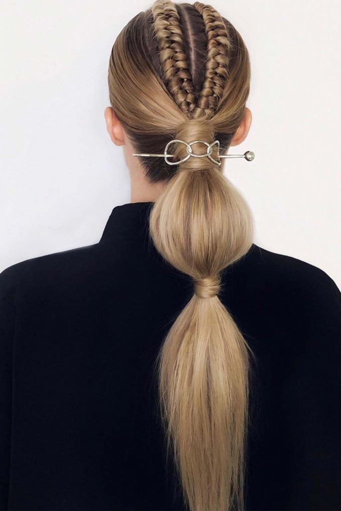 Ponytails With Hair Rings Braids #hairrings #hairaccessories