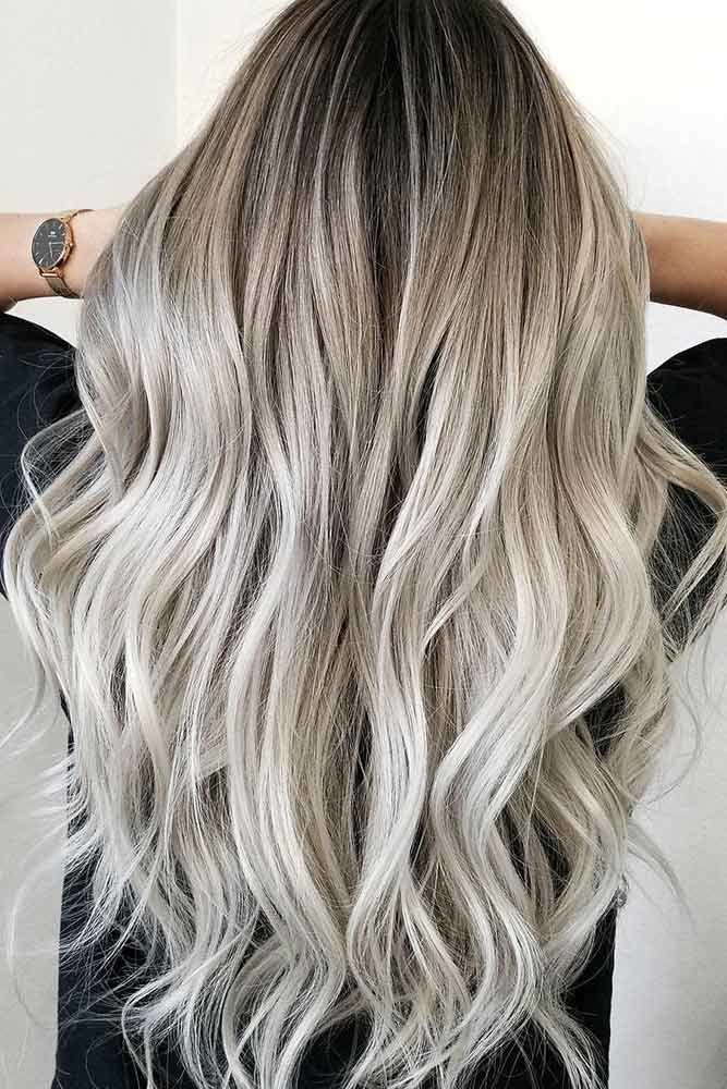 Platinum Blonde Natural Hair Ombre Ashy #blondehair #platinumblonde