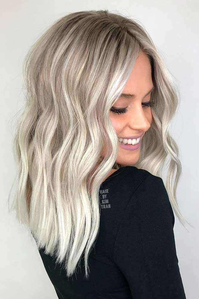 Winter White Platinum Blonde Hair Waves #blondehair #platinumblonde