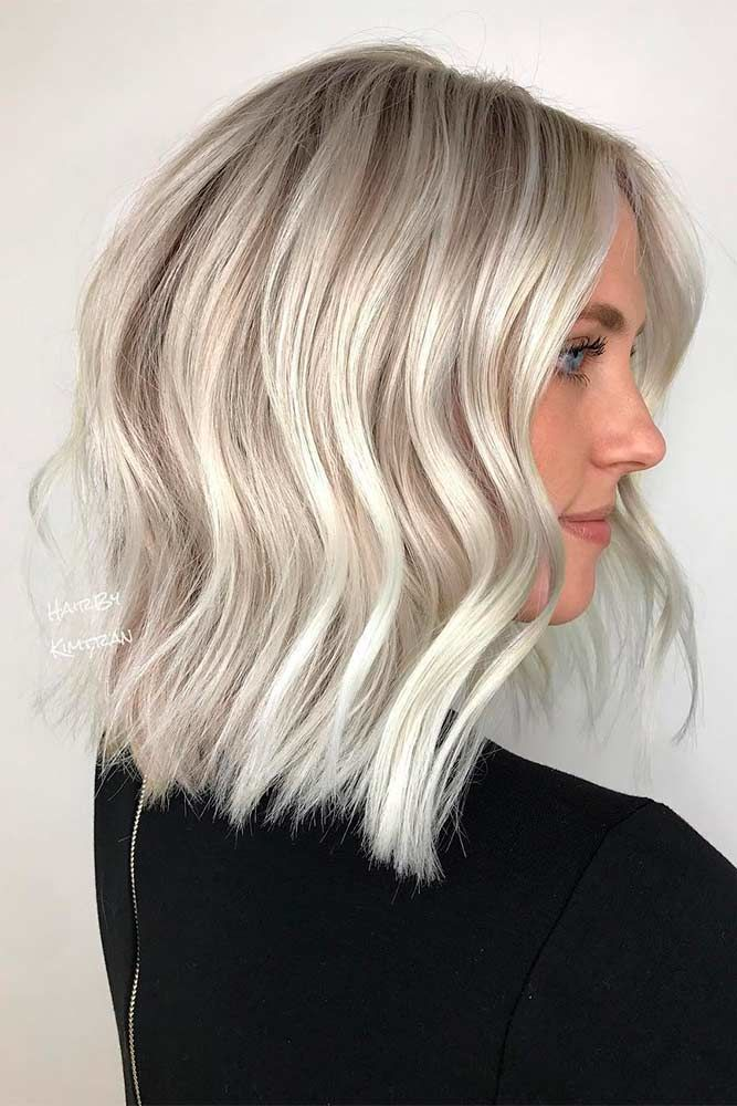 Winter White Platinum Blonde Hair Bob #blondehair #platinumblonde