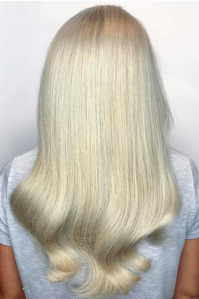 Winter White Platinum Blonde Hair Sleek #blondehair #platinumblonde