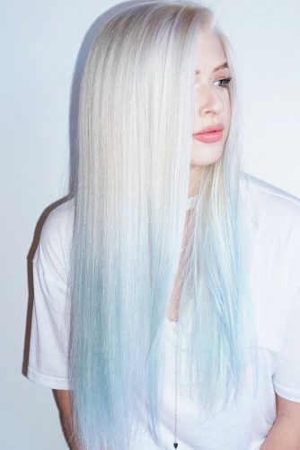 Blonde To Blue Ombre #blondehair #bluehair #ombre