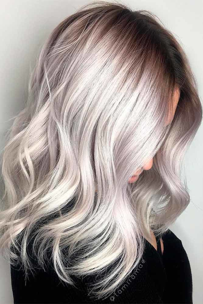 Icy California Platinum Hair Lob #blondehair #platinumblonde