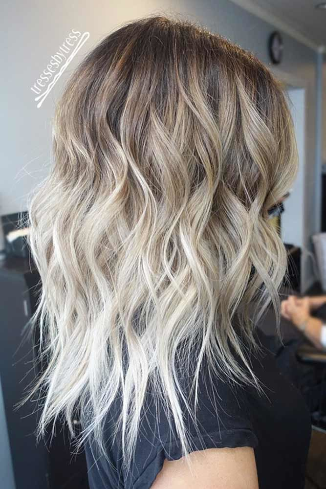 Platinum Blonde Natural Hair Ombre Waves #blondehair #platinumblonde