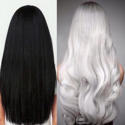 Platinum Hair Color For Black Hair