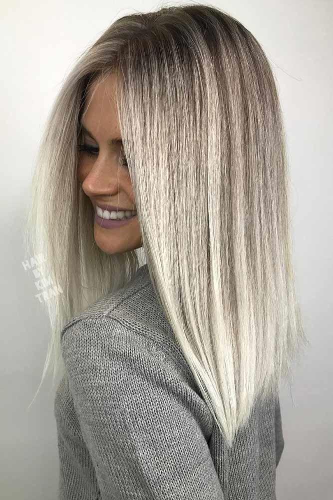 Platinum Blonde Highlights Straight #blondehair #platinumblonde