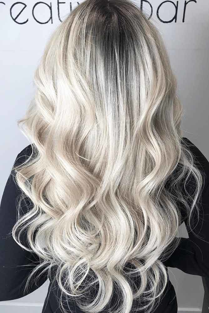 Platinum Blonde Highlights Black #blondehair #platinumblonde
