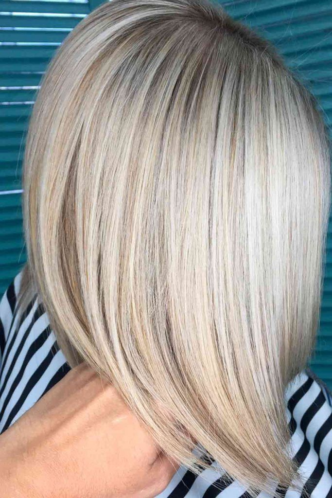 Platinum Blonde With Golden Honey Highlights And Dark Roots #highlights #hair