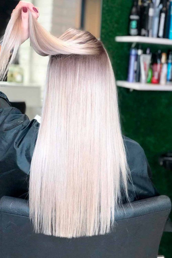 Platinum Blonde Ombre For Long Straight Hair #longhair #ombrehairstyles
