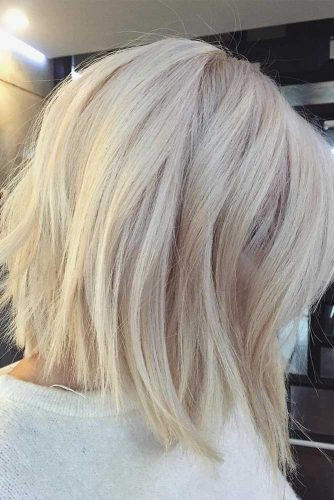 Blonde Straight Styles for Medium Hair picture2