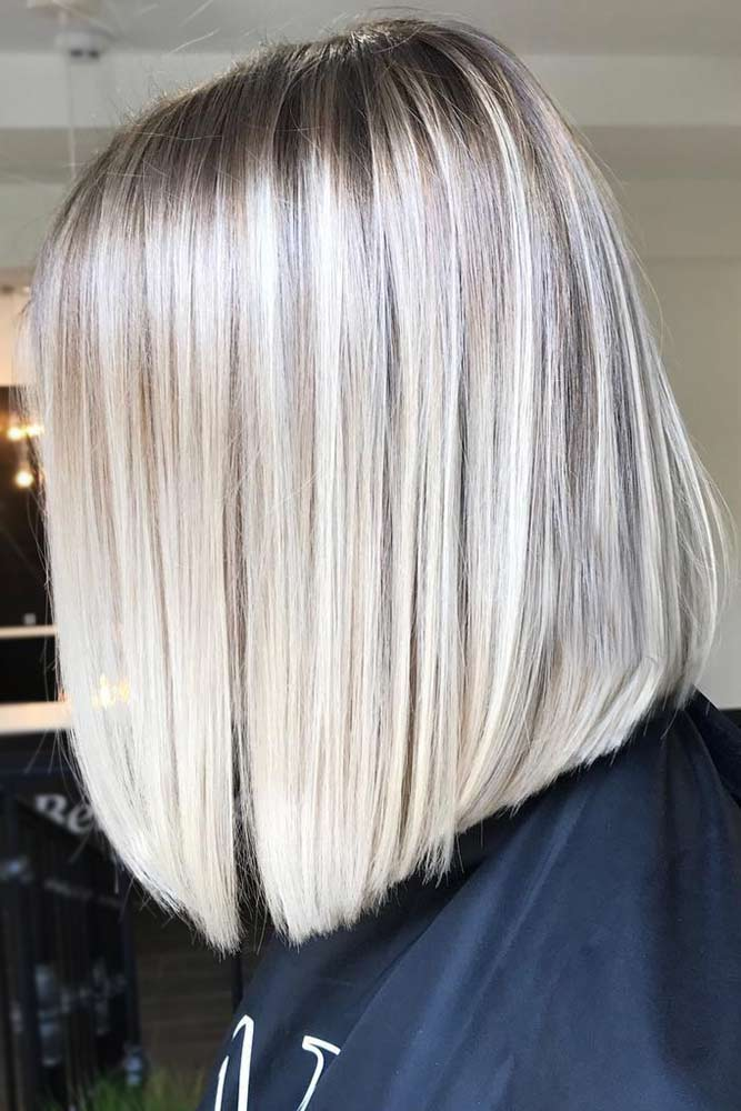 Sleek Blunt Blonde Bob