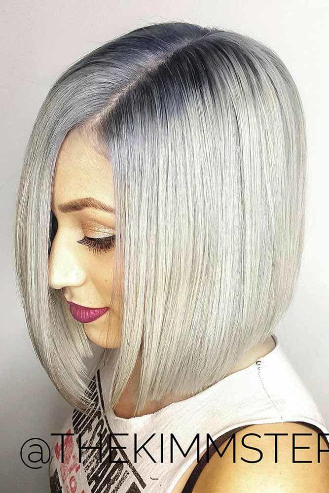 Icy California Platinum Hair Sleek #blondehair #platinumblonde
