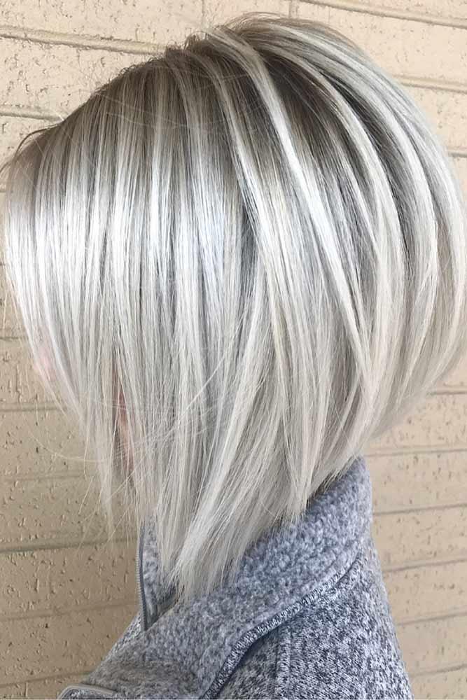 Platinum Stacked Bob Haircut