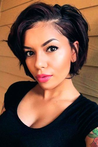 Black Layered Pixie-Bob #shorthaircuts #pixiebob #layeredhaircut #haircuts