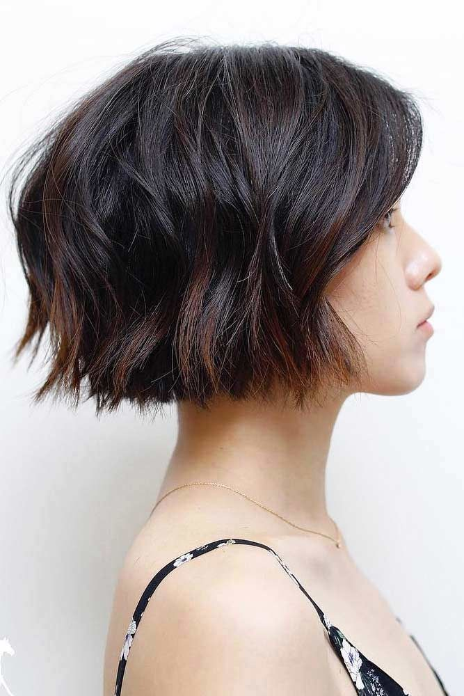 Short Bob With Simple Layers #shorthaircuts #layeredhaircut #haircuts