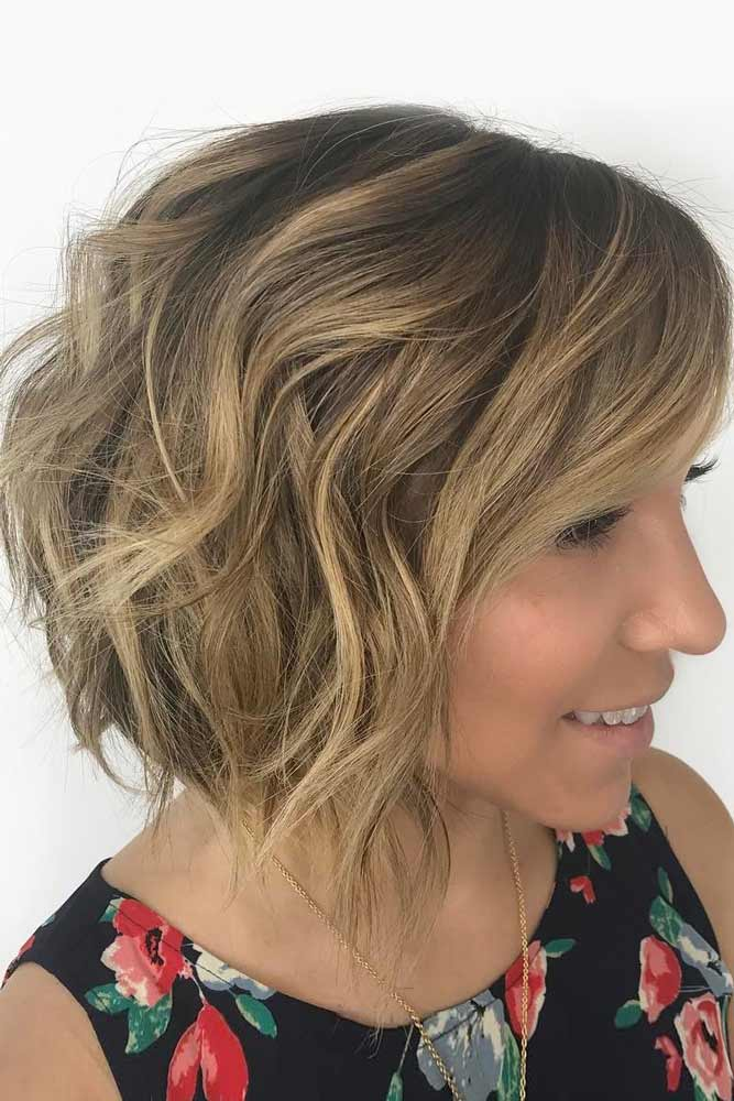 Wavy A line Layered Bob #shorthaircuts #bobhaircut #layeredhaircut #haircuts
