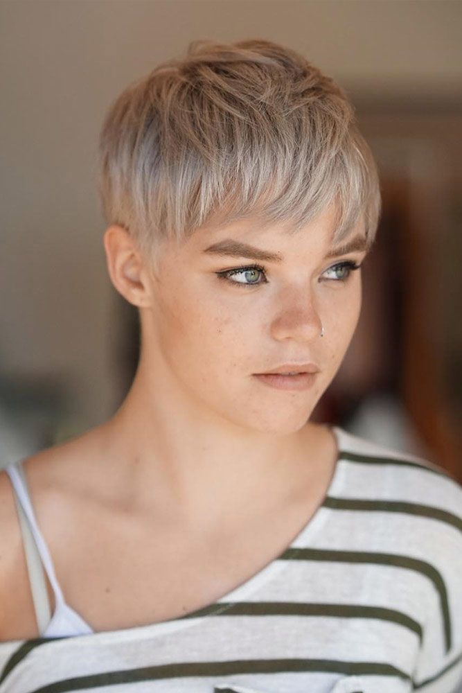 Cute Layered Blonde Short Pixie #shorthaircuts #layeredhaircut #haircuts