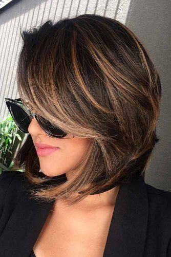 Straight A line Layered Bob #shorthaircuts #bobhaircut #layeredhaircut #haircuts