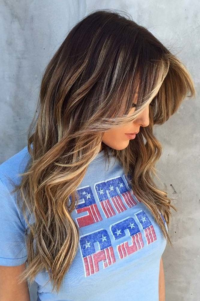 Long Hair with Side Swept Bangs picture1