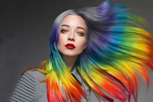 Chic Hidden Rainbow Hair Is The Magic You Need To Be Trendy