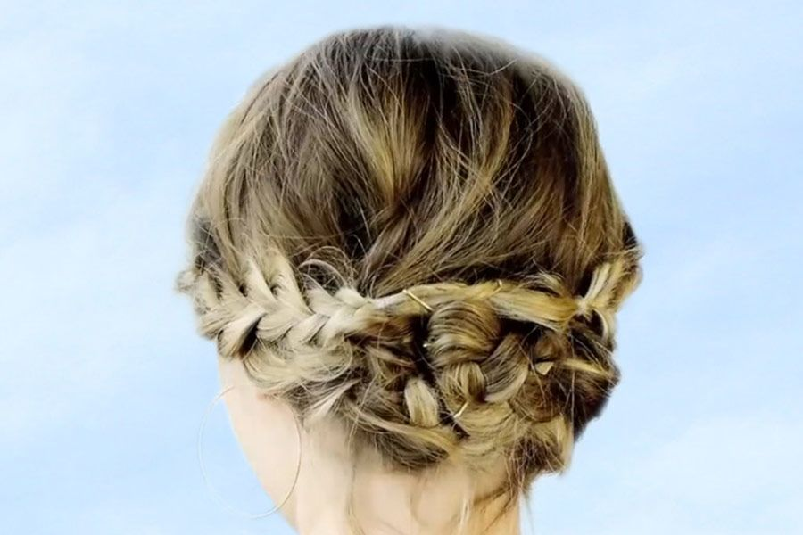 Hair How-To: Messy Braided Updo for Short Hair