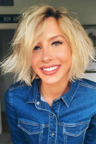 Messy Layered Blonde Bob