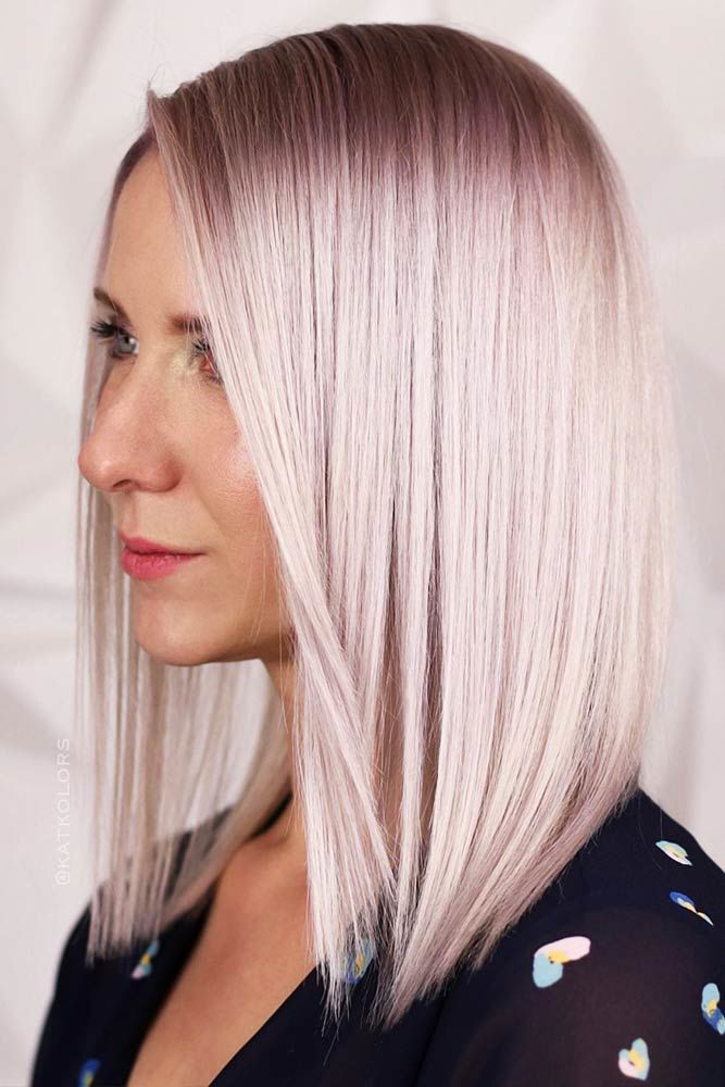 Blonde With Pastel Pink Hue #blondehair #blondehaircolors