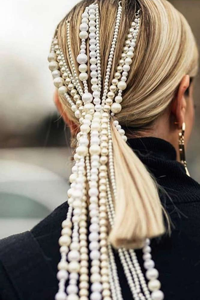 Hair Accessories With Pearls #hairaccessories