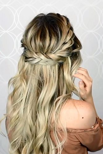 Beautiful Crown Braid Hairstyle