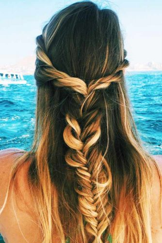 Combine Twisted Crown Braid with Another Braid picture 2