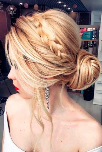 Lovely Bridesmaid Hairstyles with Bun picture 1