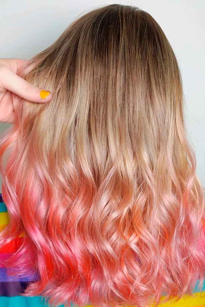 Brown And Pink Ombre Hair In Which You Fall In Love