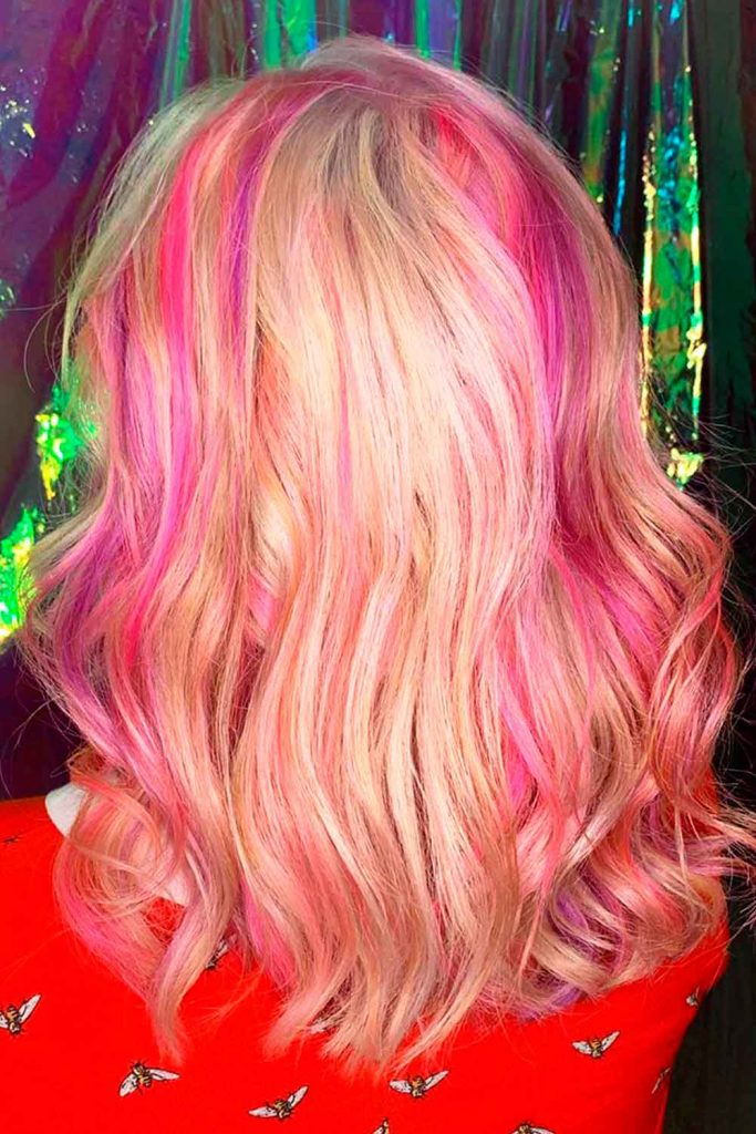 Melted Pink Hairstyle