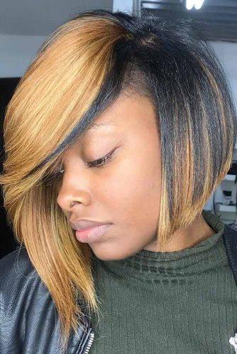 Asymmetrical Bob: African American Style #asymmetricalbob #bobhaircut #naturalhair