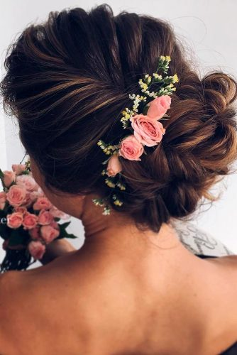 Lovely Flowered Updo Hairstyles picture 1