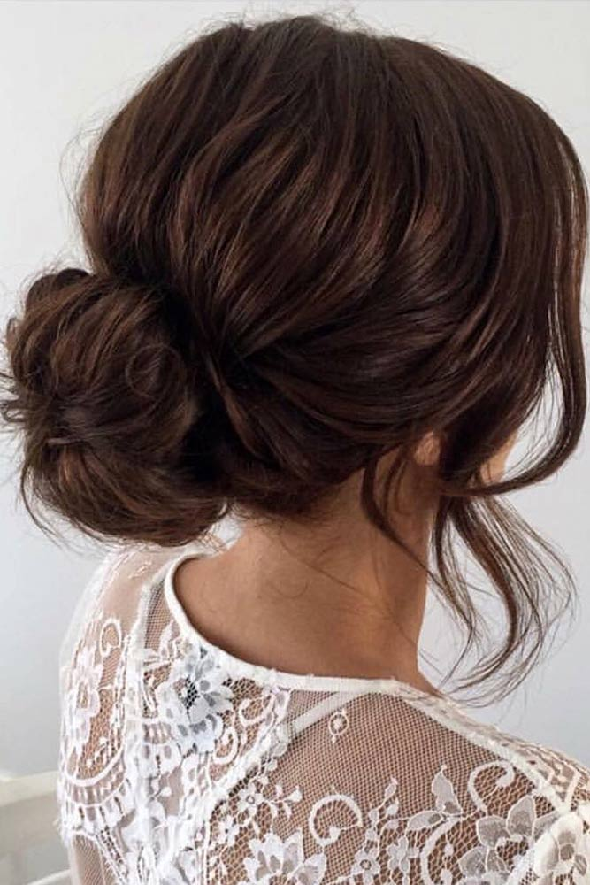 Low Bun and Bangs picture1