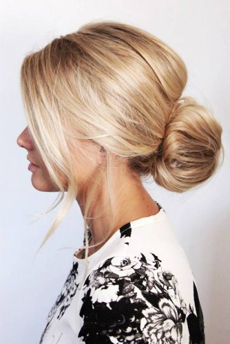 Low Bun and Bangs picture3