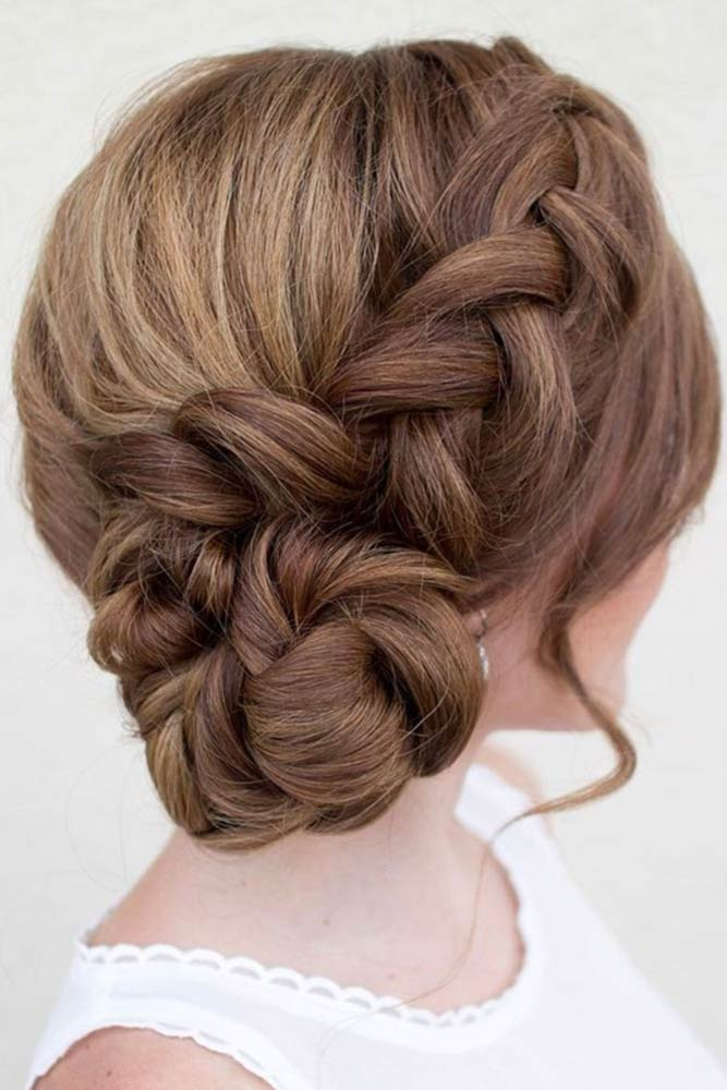 Braided Bun with Bangs picture 1