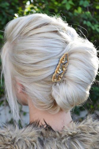 Braided Bun with Bangs picture 2