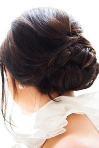 Braided Bun with Bangs picture 3