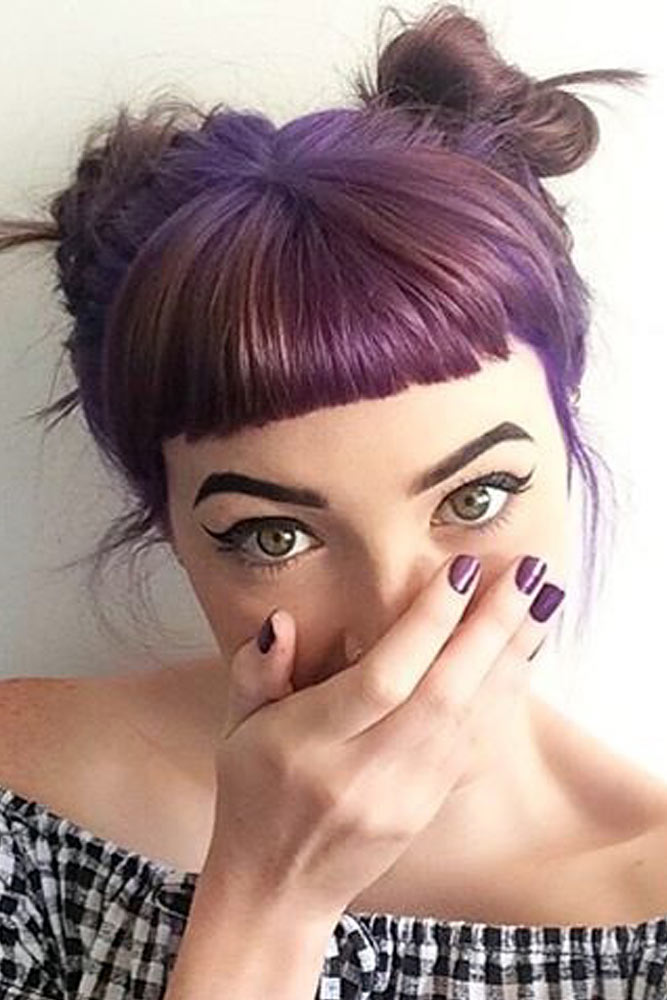 Space Bun and Bangs picture2