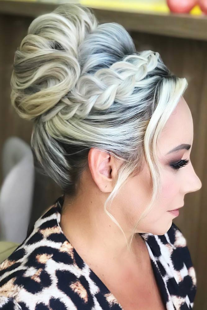 Formal Bun Styles With Bangs Braid #bun #bangs